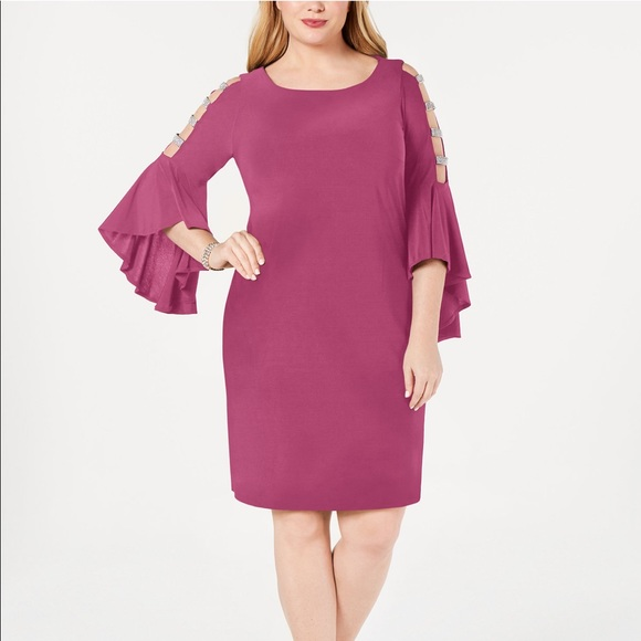 Macy's MSK Plus Size Dress 3X NWT